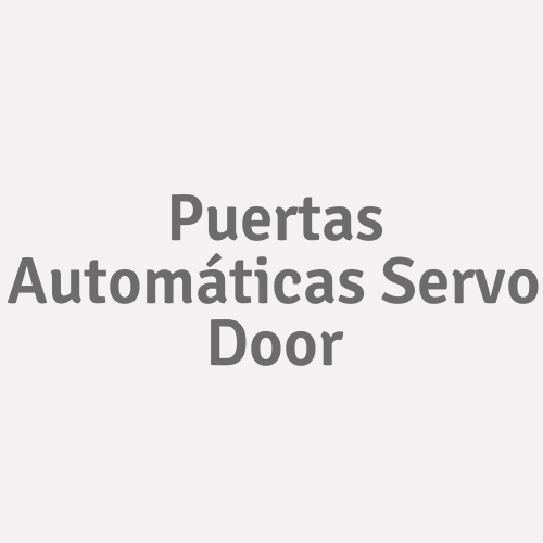 Puertas Automáticas Servo Door