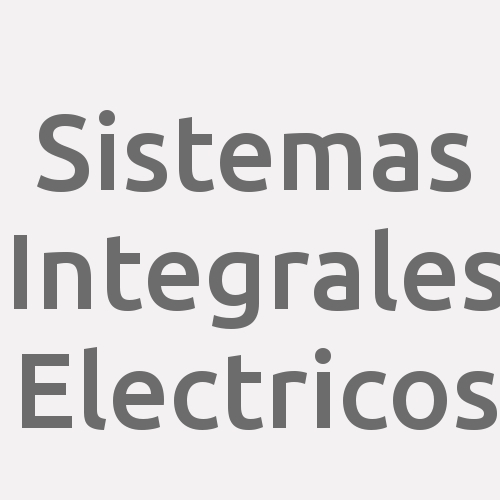 Sistemas Integrales Electricos