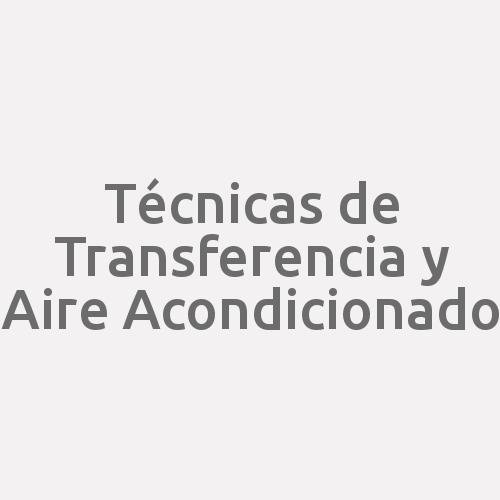 Técnicas de Transferencia y Aire Acondicionado