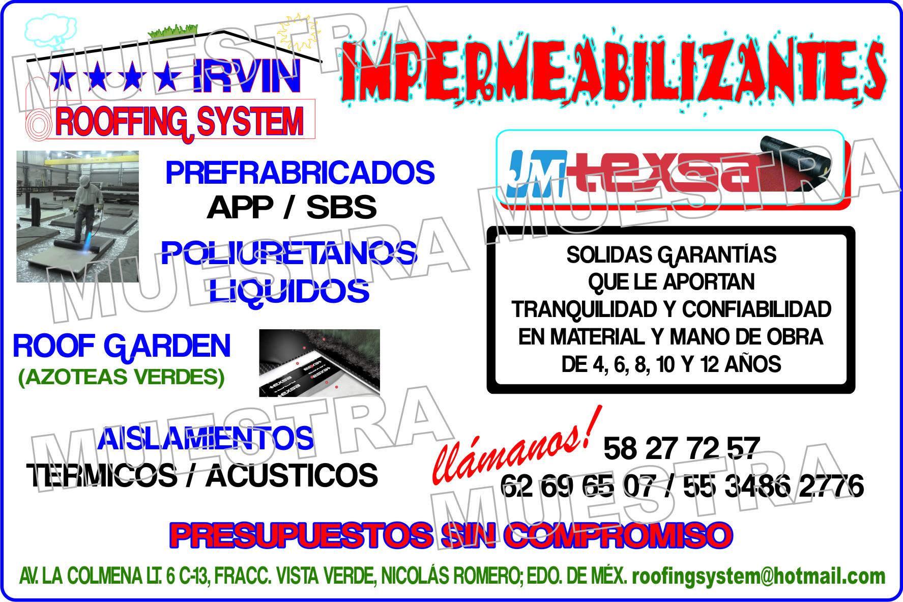 Roofing System Irvin Impermeabilizaciones