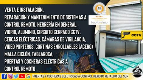 Puertas Automaticas Herrería Vidrio Y Aluminio Metalum Del Sur