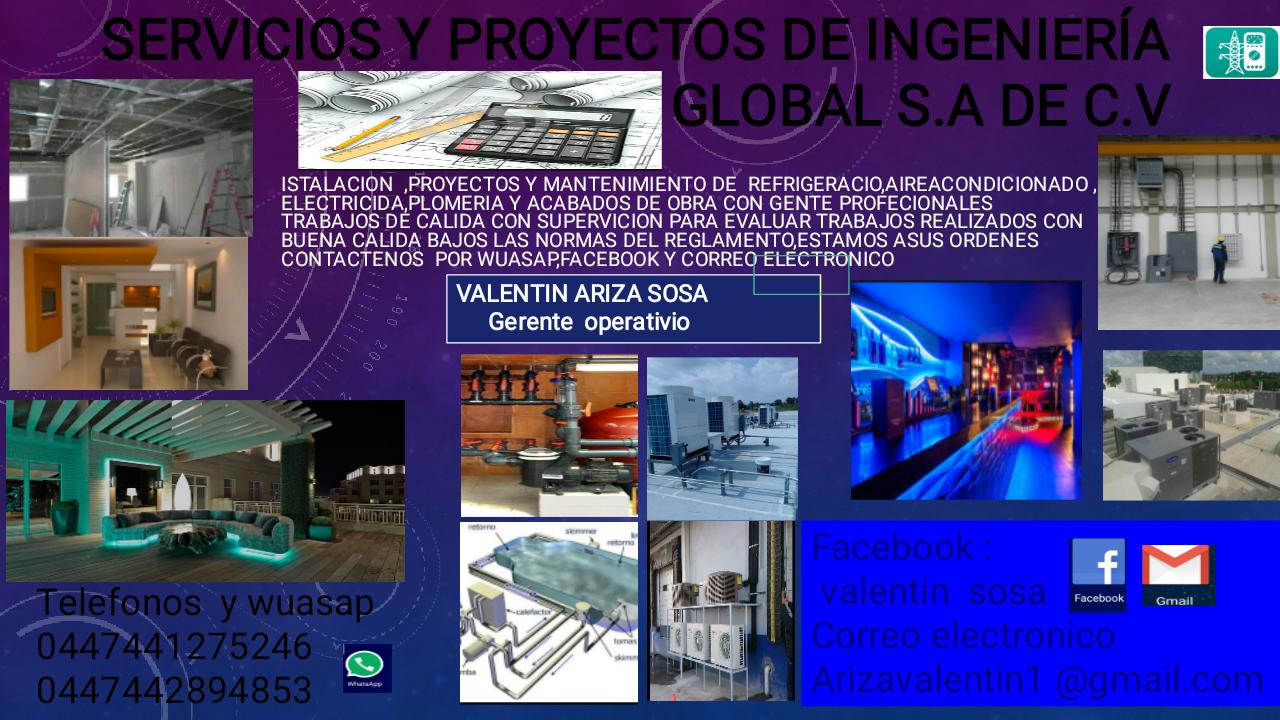 Ingeniería Global Proyecto De Instalaciónes De Aire Acondicionado, Plomería, Electricida