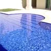 Colocar piso de alberca con material de toldo, con un diámetro aproximado de 5 mts