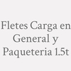 Fletes Carga En General Y Paqueteria 1.5t.