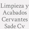 Limpieza y Acabados Cervantes