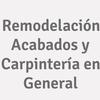 Remodelación Acabados y Carpintería en General