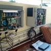 Garaje con paneles solares y gimnasio pequeño de jardin para casa en ajijic
