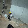 Rellenar muro de contención a una altura de 30 cm