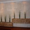 Jardineras movibles de cantera  de un metro de largo por 35
