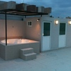 Hacer un roof garden con medio baño y asador y una recamara con baño completo