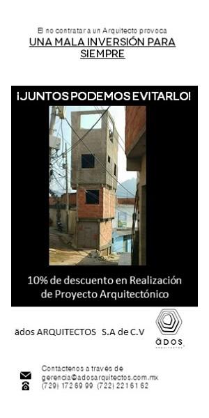 Descuento en Proyecto Arquitectónico