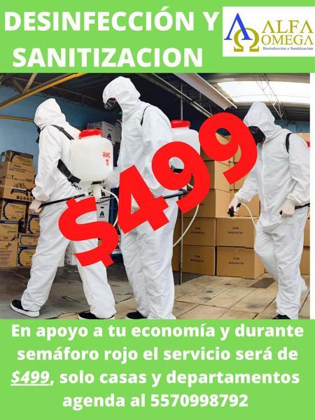 DESINFECCION Y SANITIZACION $499.00