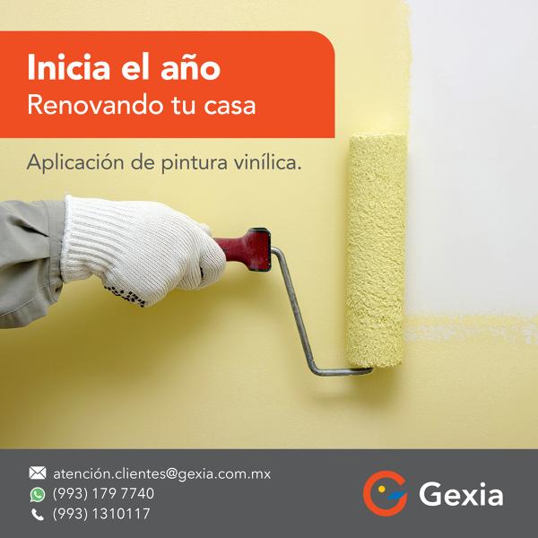 Renovando  tu casa…Aplicación de pintura vinílica diferentes colores.