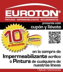 10% de descuento en Pinturas e Impermeabilizantes Euroton