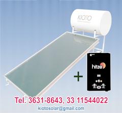 calentador solar + boiler de paso