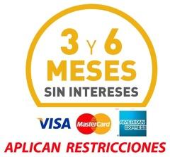 meses sin intereses aceptamos todas las tarjetas de crédito y débito