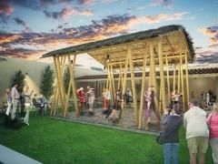 Palapa Estructura De Bambu