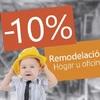 10% de descuento en servicios de remodelacion o mantenimiento