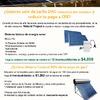 Oferta paneles fotovoltaicos y calentador solar a meses