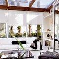 terraza con vigas de madera