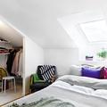 Clóset con techo inclinado