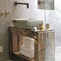 Baño lavabo piedra
