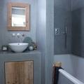 baño microcemento gris