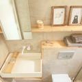 Baño microcemento con madera