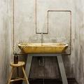 Baño moderno y rústico