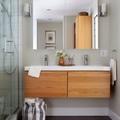Muebles suspendidos en baño