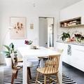 Cocina con mezcla de estilos decorativos