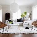 Sala estilo nórdico con chaise longue