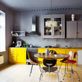 cocina con combinación de estilos