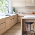 Cocina de madera con isla