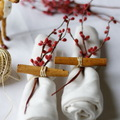 Detalle para decorar las mesas en Navidad