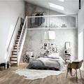 dormitorio en loft