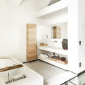baño con pared de pladur