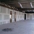 Fabricación de muro de tablaroca.