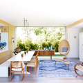 hanging-egg-chair-Dining-Room-Contemporary-with-blue-and-white-living