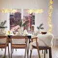 Iluminación navideña en casa
