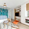 Sala con librero-estantería