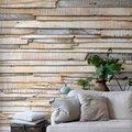 Pared revestida con madera