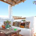 terraza con porche cañizo