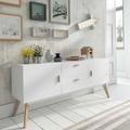 Recibidor con mueble blanco