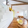 Sala comedor con piso de madera
