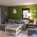 sala pintada de verde