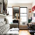 Sala con mobiliario estilo vintage