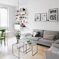 Sala con piso vinílico
