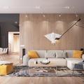 Sala con textiles
