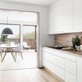 Muebles sin jaladeras en la cocina
